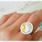 Rice Bowl Food Rings,Food jewelry,Fake Food jewelry,Polymer Clay Jewelry
