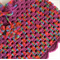 Girls Hand Crochet Poncho | Baby | Pure Wool | Purple Berry | Size 6 - 12 Months
