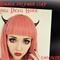Fairy kei,devil horn,Pastel goth,gothic hair clips,kawaii hair clips,handmade