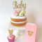 Gold Glitter 'Baby' Cake Topper, Baby Shower Cake Topper Decoration Gold Party