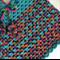 Girls Hand Crochet Poncho | Baby | Pure Wool | Aqua Rainbow | Size 2 - 3 Years