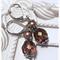 STAINLESS STEEL Czech crystal vintage earrings