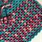 Girls Hand Crochet Poncho | Baby | Pure Wool | Aqua Berry | Size 1 - 2 Years