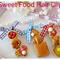 Ribbon hair clips,Fairy Kei Cute hair clip,Food Hair clips,Gingham hair clip