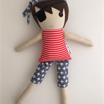 Ahoy there Pirate Andy! Ready to ship Koko & Joey cloth doll