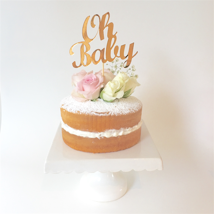 oh baby 39 metallic copper cake topper baby shower cake topper