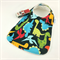 Baby Dribble Feeder Bib Dinosaur Cotton Fabric, Bamboo Toweling, Snap Fastened.