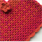 Girls Hand Crochet Poncho | Baby | Pure Wool | Pink Citrus | Size 2 - 3 Years