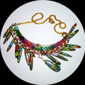 Sea sediment jasper and Turkey turquoise necklace