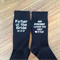 I loved you first;father of the bride;personalised wedding socks;wedding socks;