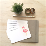 Notecard Pack - Pink Flamingo - Set of 5 Notecards and Envelopes - NOT025