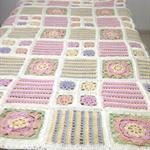 Handmade Crochet Patchwork Squares Blanket