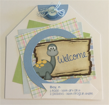 Welcome Baby Boy Card