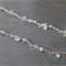 Sterling silver chain chalcedony quartz gemstone necklace. Eco-friendly silver.