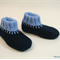 Washable woollen felt slippers with leather soles for toddlers, size EU 25 - 27