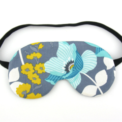 Blue and Yellow Flower Sleeping Eye Mask