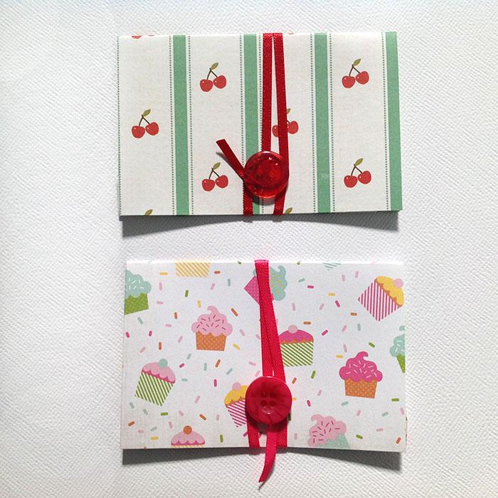 Gift Voucher / Card Envelopes   Set of 2   Cherry & Cake ...