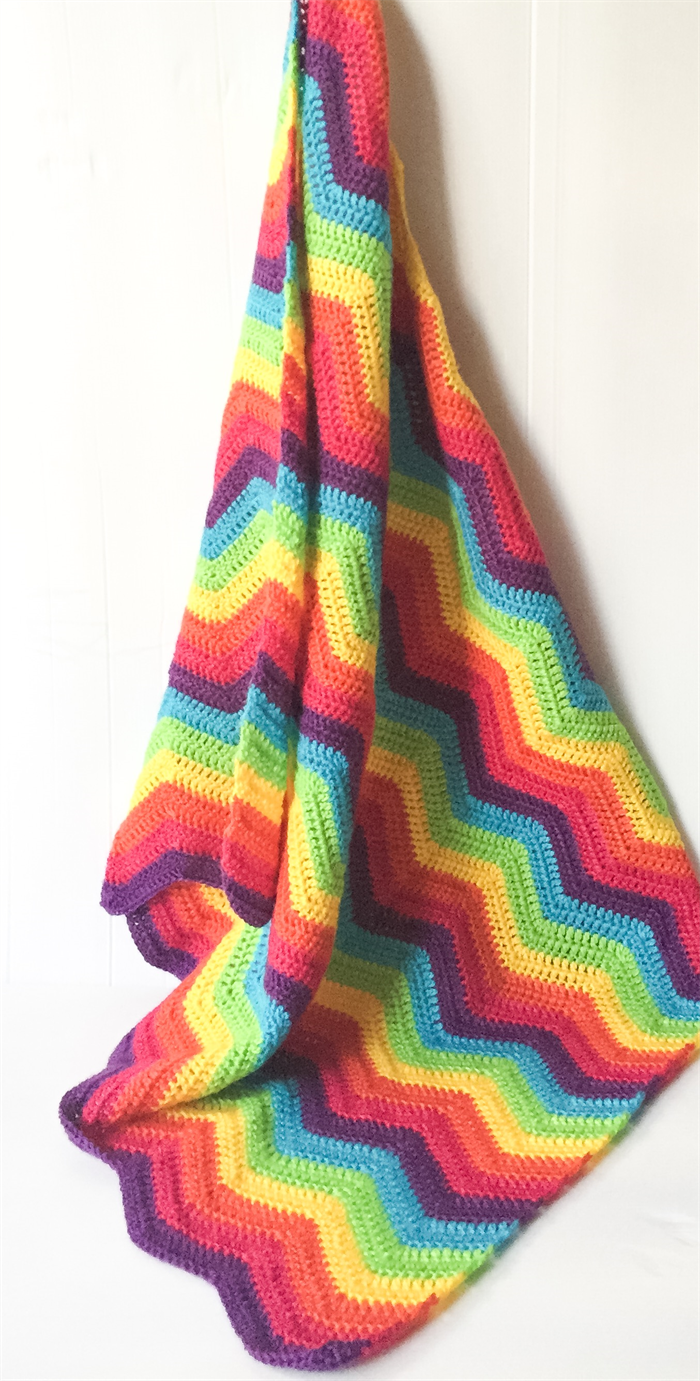 Rainbow Crochet Baby Blanket Made To Order Cuts With
