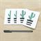 Mini Gift Card Pack + Envelopes - Geometric Cactus - Set of 4 - GC01