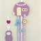 Caravan hair clips holder, felt, retro, lavender purple, pastel