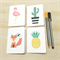 Mini Gift Card Pack + Envelopes - Assorted - Pineapple, Cactus, Flamingo, Fox