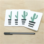 Mini Gift Card Pack + Envelopes - Geometric Cactus - Set of 4 - GC01