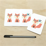 Mini Gift Card Pack + Envelopes - Fox with Feathers - Set of 4 - GC03