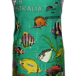 Metro Retro 'Australian Tropical Fish' Vintage Tea Towel Apron . Mother's Day