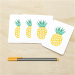 Mini Gift Card Pack + Envelopes - Geometric Pineapples- GC04