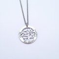 Personalised Hand Stamped Family Tree of Life Name Family Pendant Necklace