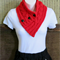 Cowl Scarf, Womens Knitted Chunky Cable Neckwarmer, Red Winter Wool Neck Shawl