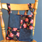 Blue with Red Floral Tote Bag