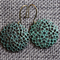 Circles Teal Patina Antique Bronze ~  Earrings