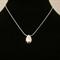 Egg - Handmade Sterling Silver Pendant with Snake Chain