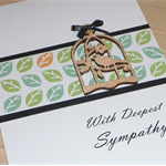With Deepest Sympathy bereavement card
