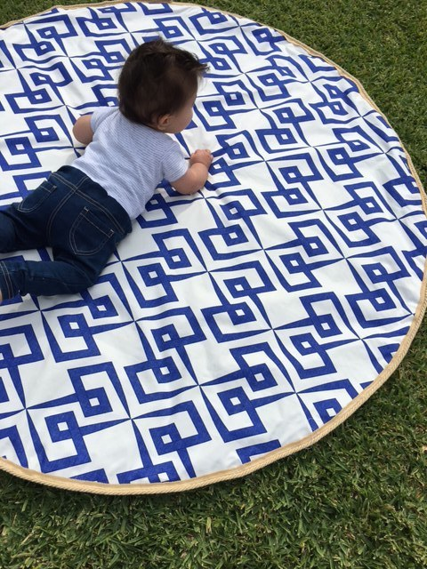 Travel Outdoor Round Baby Play Mat Tummy Time Shire Edge Styled By Olivia Grace Madeit Au