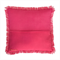 Ombre Flower Print Cushion Cover – pink ombre, bloom, hot pink fringe trim