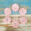 Flower hair clip, pink, accessory, crochet