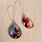 Captain America Earrings, Comics