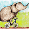 Pack of 5 Elephant postcards.