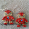 Ironman  Beaded Earrings