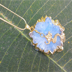 Mermaid Solar Quartz Crystal Necklace