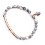 Rose gold Zebra Jasper bracelet