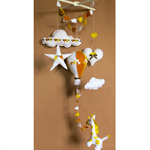 Baby Nursery Mobiles Hot Air Balloon Babies Shower Gift Giraffe Mobile Heart