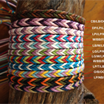 Handmade Waxed Cotton Friendship Bracelet or Anklet - Fishtail pattern