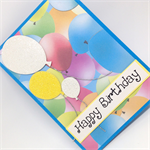 Birthday Card - Colourful,  Fun Balloons
