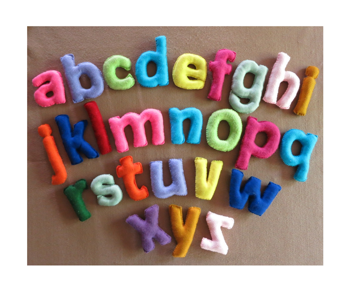 Wall Letters Fabric Alphabet Nursery Felt Letter Name Banner