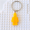 LEGO MAN BAG TAG - Handmade yellow resin Lego man bag tag