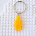 LEGO MAN BAG TAG - Handmade yellow resin Lego man bag tag