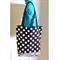 Medium Tote Bag - Black & White Polka Dot & Zebra Print